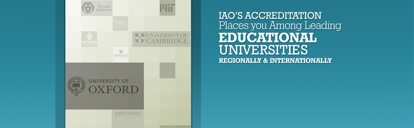 IAO membership & accreditation are a source to success in the education industry